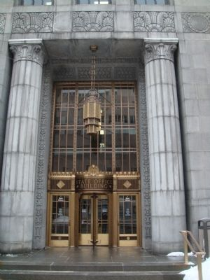 State Office Building Main Entrance - Outside image. Click for full size.