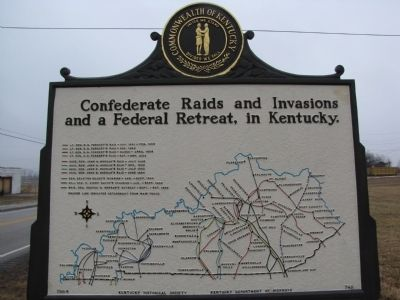 Confederate Raids and Invasions and a Federal Retreat, in Kentucky Marker image. Click for full size.