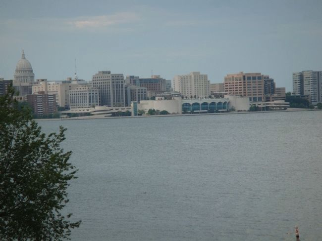 State Office Building from Across Lake Monona image. Click for full size.