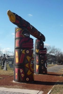 The Healing Poles Memorial, viewed from the west Photo, Click for full size