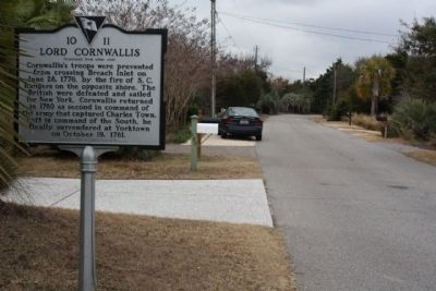 Lord Cornwallis Marker, looking west along Charleston Blvd. image. Click for full size.