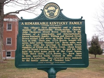 A Remarkable Kentucky Family Marker image. Click for full size.