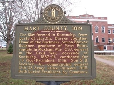 Hart County, 1819 Marker image. Click for full size.