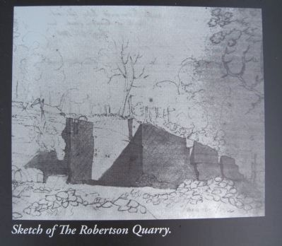 The Robertson Quarry Marker image. Click for full size.