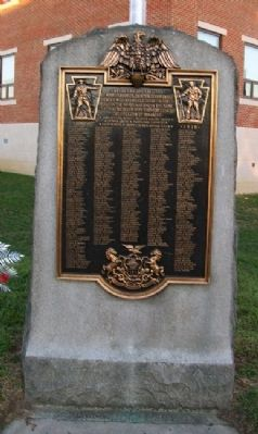 Marcus Hook World War I Memorial image. Click for full size.