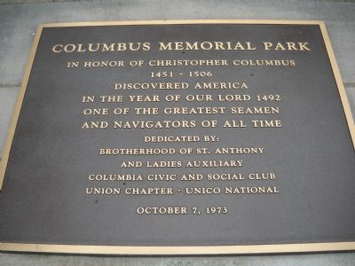 Columbus Memorial Park image. Click for full size.