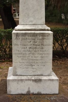 Confederate Cemetery / Memorial Marker, south Face image. Click for full size.