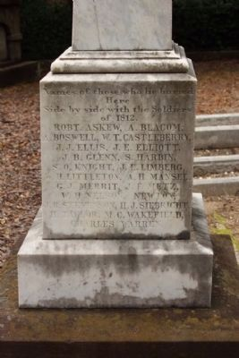 Confederate Cemetery / Memorial Marker, east face image. Click for full size.
