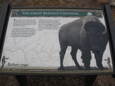 The Great Buffalo Crossing Marker image. Click for full size.