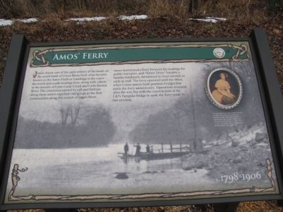 Amos' Ferry Marker image. Click for full size.