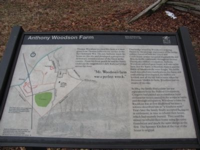 Anthony Woodson Farm Marker image. Click for full size.