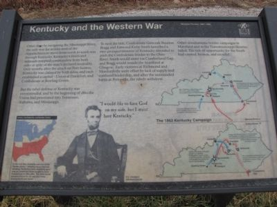 Kentucky and the Western War Marker image. Click for full size.