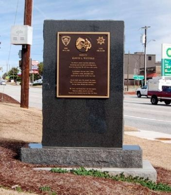 Deputy Marcus L. Whitfield Marker Photo, Click for full size