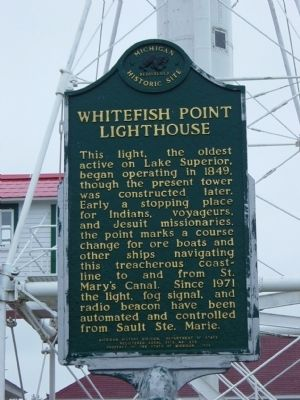 Whitefish Point Lighthouse Marker image. Click for full size.