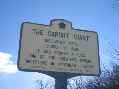 The Cardiff Giant Marker image. Click for full size.