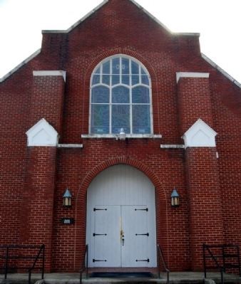 Liberty Hill United Methodist Church Facade image. Click for full size.