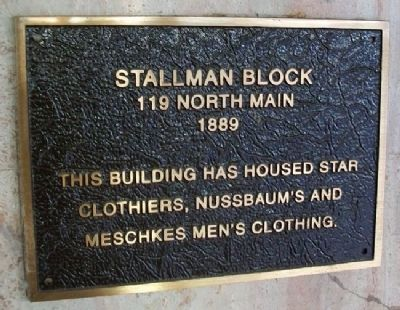 Stallman Block Marker image. Click for full size.
