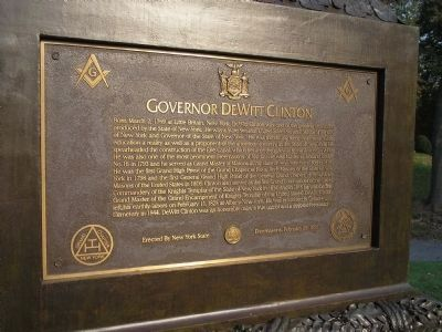 Governor DeWitt Clinton Marker image. Click for full size.
