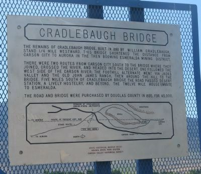 Cradlebaugh Bridge Marker image. Click for full size.