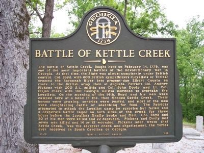 Battle of Kettle Creek Marker Photo, Click for full size