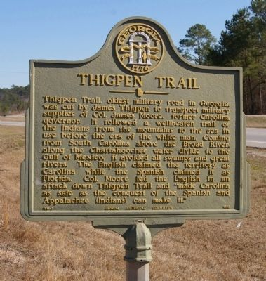 Thigpen Trail Marker Photo, Click for full size