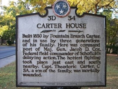 Carter House Marker image. Click for full size.