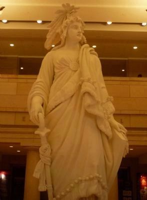 The plaster model for the Statue of Freedom image. Click for full size.