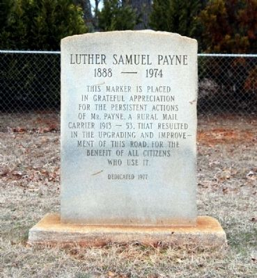 Luther Samuel Payne Marker image. Click for full size.