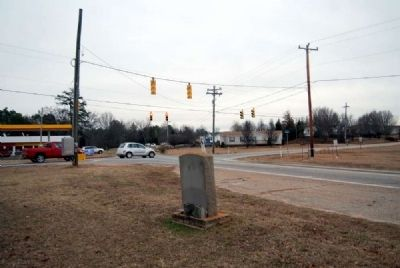 Luther Samuel Payne Marker -<br>Looking East Toward Intersection of Bessie<br>and Old Pelzer Roads image. Click for full size.