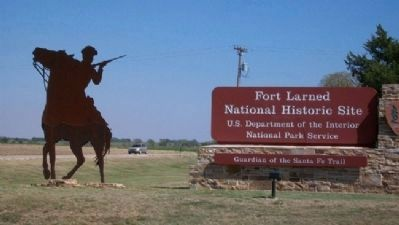Fort Larned Entrance Sign Photo, Click for full size