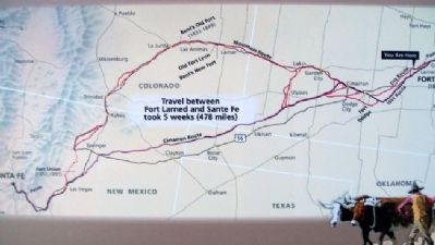 The Great Wagon Road Map on Marker Photo, Click for full size