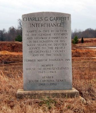 Charles G. Garrett Interchange Marker image. Click for full size.