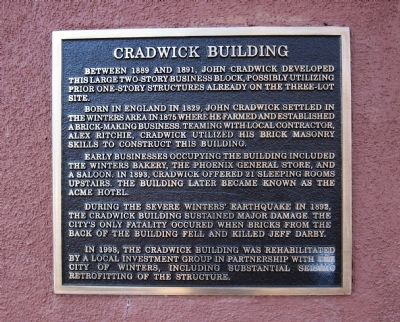 Cradwick Building Marker image. Click for full size.