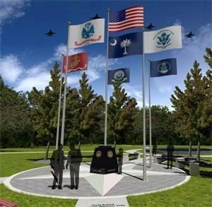 Ware Shoals Veterans Memorial image. Click for full size.