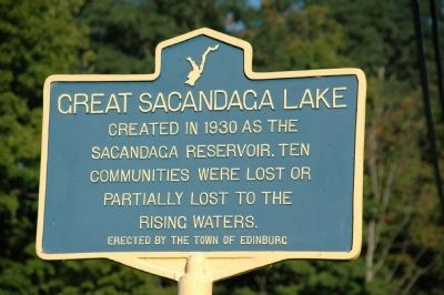 Great Sacandaga Lake Marker Photo, Click for full size