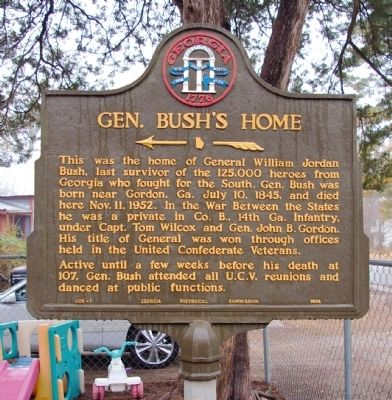 Gen. Bush's Home Marker image. Click for full size.
