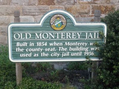 Old Monterey Jail Marker image. Click for full size.