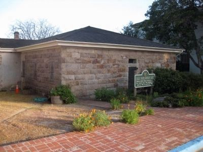 Old Monterey Jail and Marker - view from west image. Click for full size.