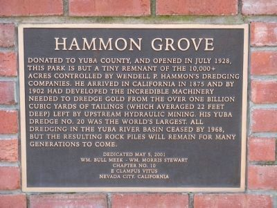 Hammon Grove Marker image. Click for full size.
