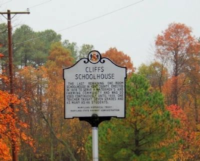 Cliffs Schoolhouse Marker image. Click for full size.