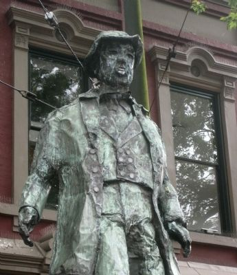 Closeup of Gassy Jack Statue image. Click for full size.