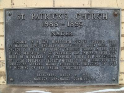 St. Patrick's Church Marker Photo, Click for full size
