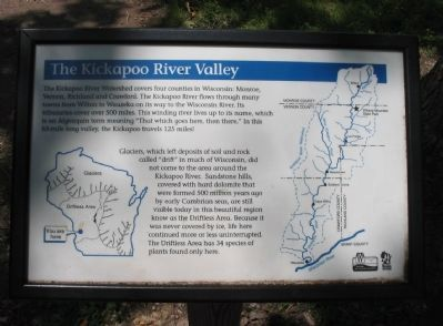 The Kickapoo River Valley Marker image. Click for full size.