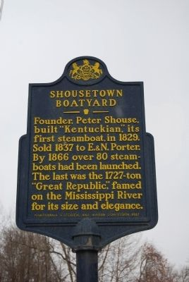 Shousetown Boatyard Marker image. Click for full size.