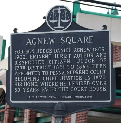 Agnew Square Marker image. Click for full size.