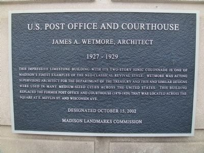 U.S. Post Office and Courthouse Marker Photo, Click for full size