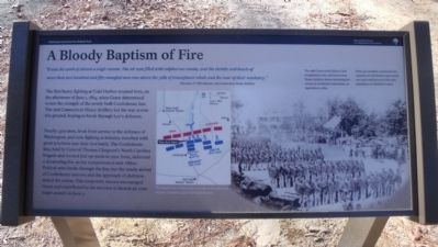 A Bloody Baptism of Fire Marker image. Click for full size.