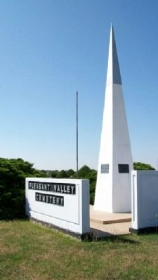 Pleasant Valley Townships No. 1 and No. 2 Pioneers Monument image. Click for full size.