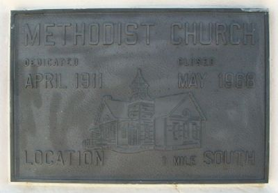 Methodist Church Marker image. Click for full size.