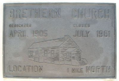 Brethren Church Marker image. Click for full size.